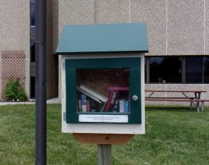 Little Free Library at the Polk County Building